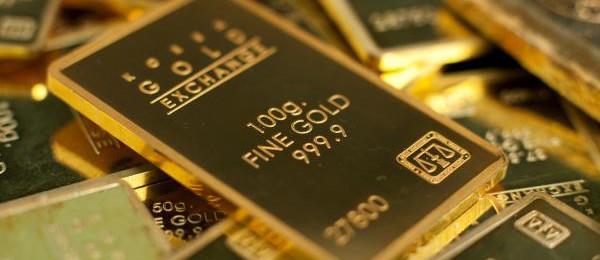 barras de ouro puro