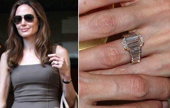 Angelina Jolie anel de ivado casamento