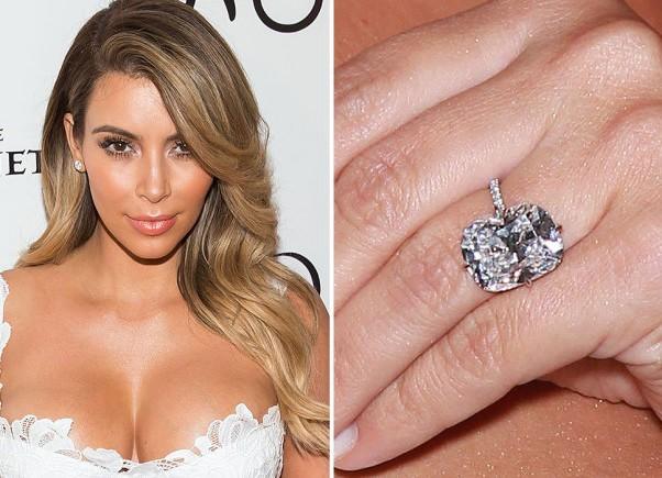 Kim Kardashian Kanye West anel noivado