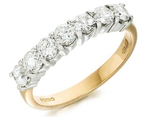 Meia Alianca de Diamantes