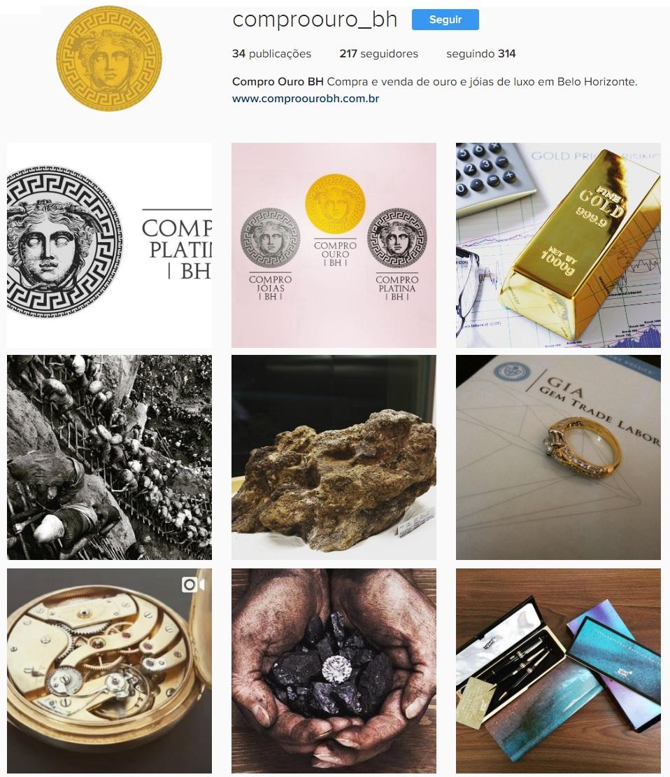 Compro Ouro BH no Instagram